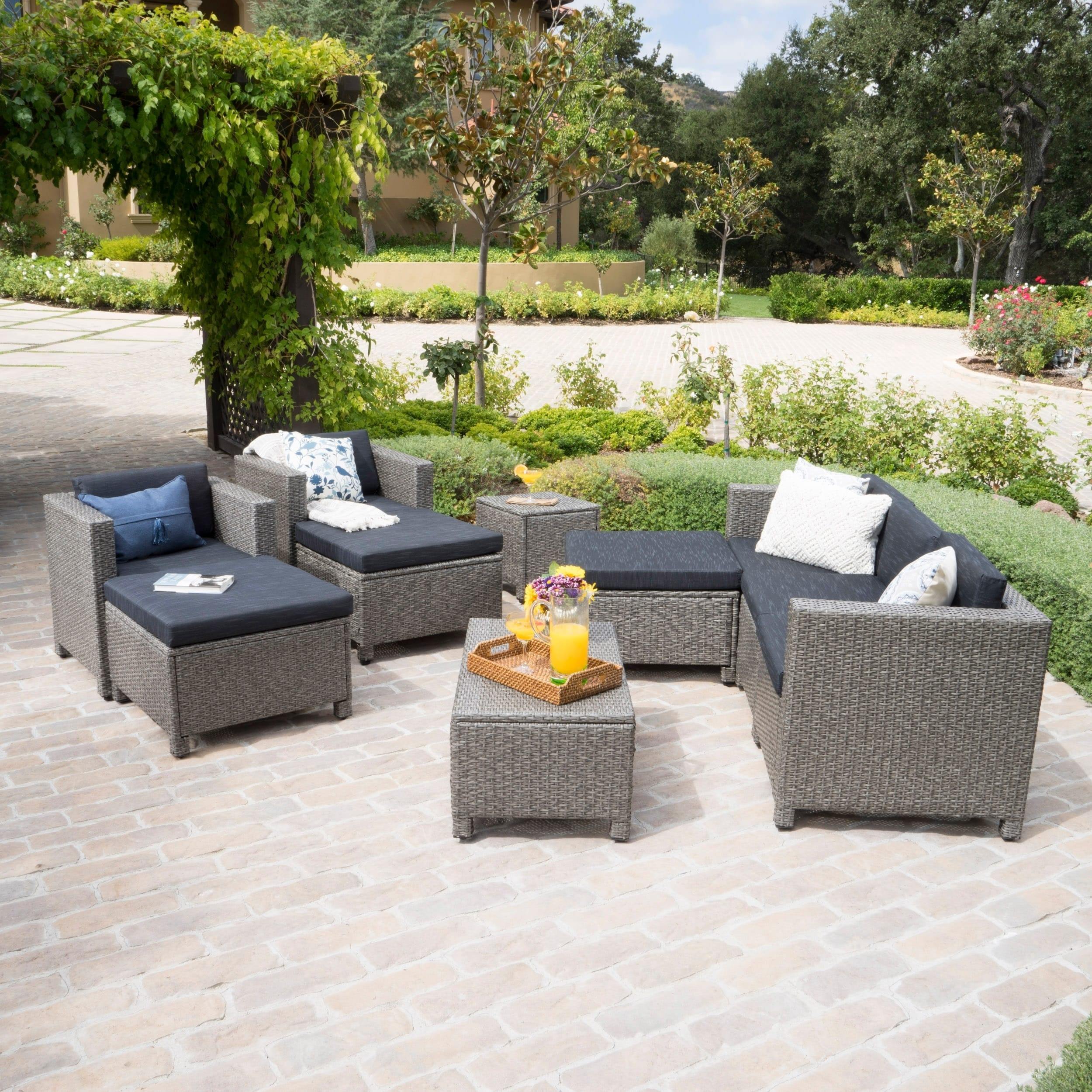 Christopher Knight Home Puerta Outdoor 10-piece Wicker Sofa Set Collection with Cushions by