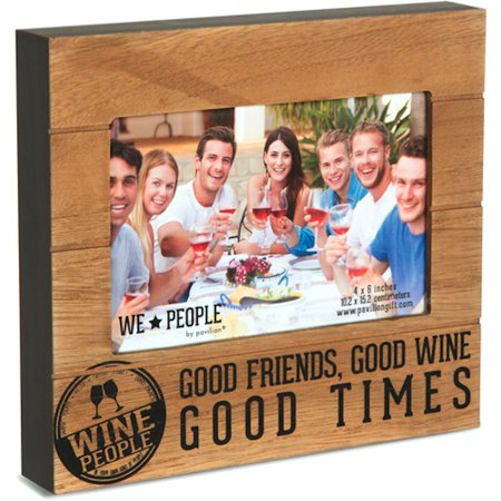 Pavilion Gift Company We People 67220 Wine People 4x6 Photo (Oliver Peoples Frame)