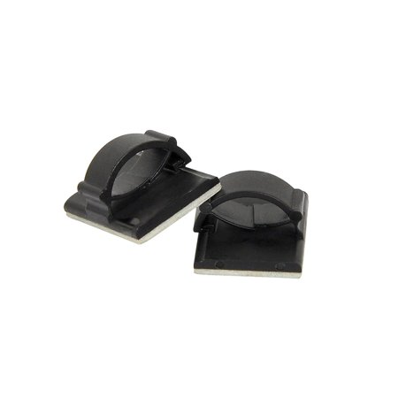 Adhesive Cable Clips Wire Clamps Car Cable Organizer Cord Tie Holder Black 50pcs - image 3 de 7