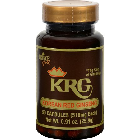 (Prince Gold KRG Korean Red Ginseng Capsules - 50 CT)