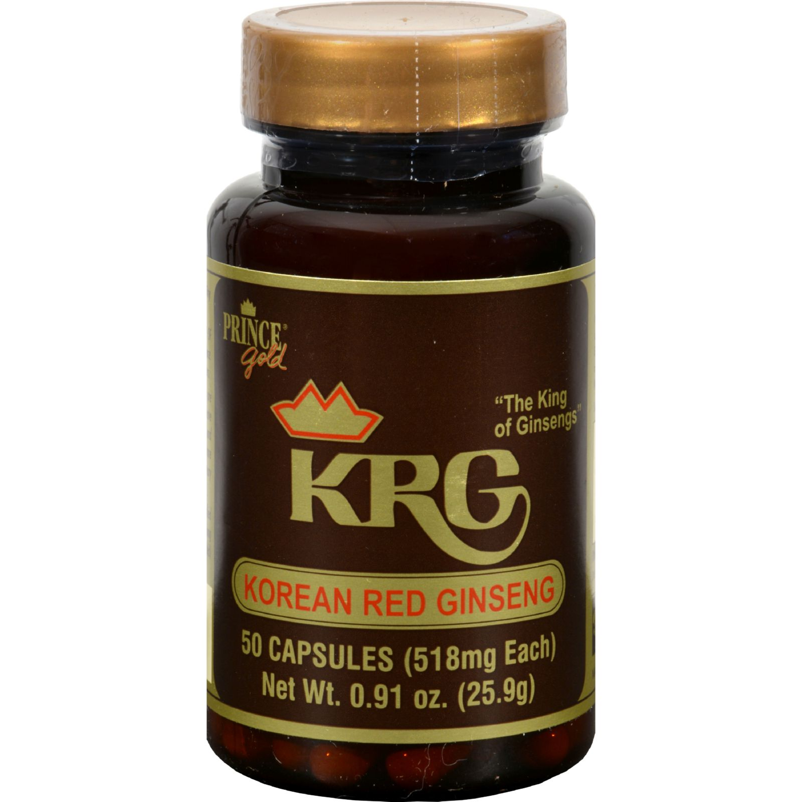 Prince Gold KRG Korean Red Ginseng Capsules - 50 CT