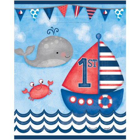 Nautical Boys First Birthday Favor Bag, 8ct