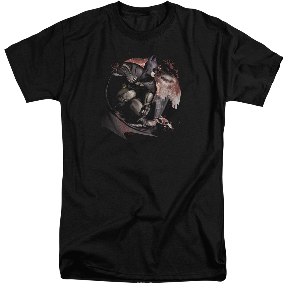 Arkham City Blood Moon Mens Big and Tall Shirt