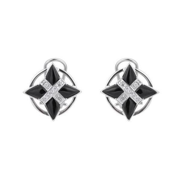CZ EAR954-BLK C. Z & BLACK R-P EARRING