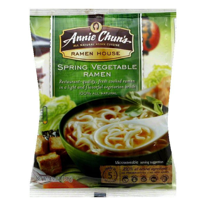 Annie Chuns Spring Vegetable Noodles, 4.7 OZ (Pack of 12)