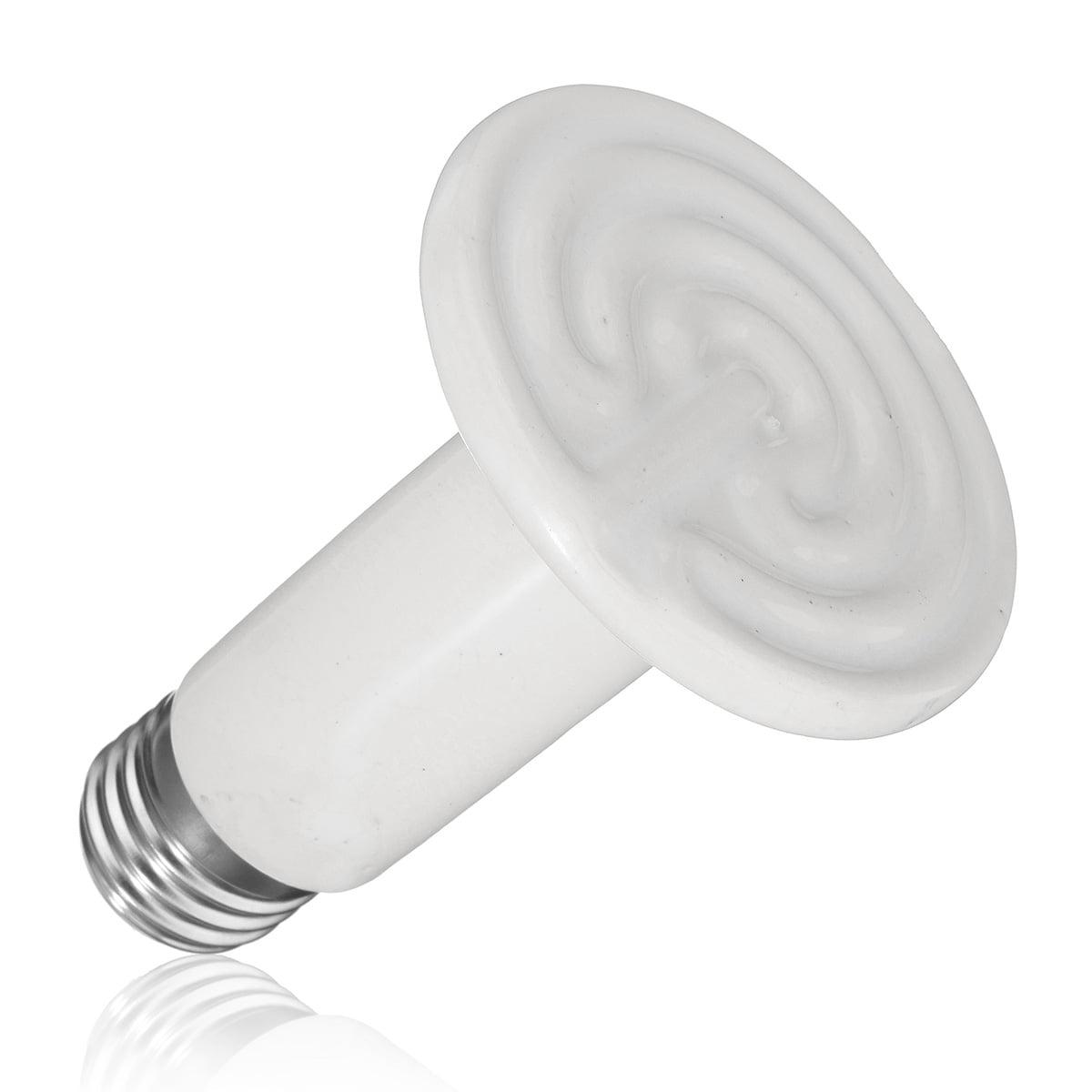 25w 50w 75w Ei Licht 100w 110v Infrared Ceramic Heat Lamp Reptile Emitter Lamp Bulb For Pet