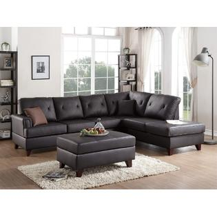 Kapan Sectional Sofa Upholstered in Genuine Leather Match