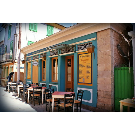 Peel-n-Stick Poster of Architecture Greece Building Lefkada Lefkas Poster 24x16 Adhesive Sticker Poster Print