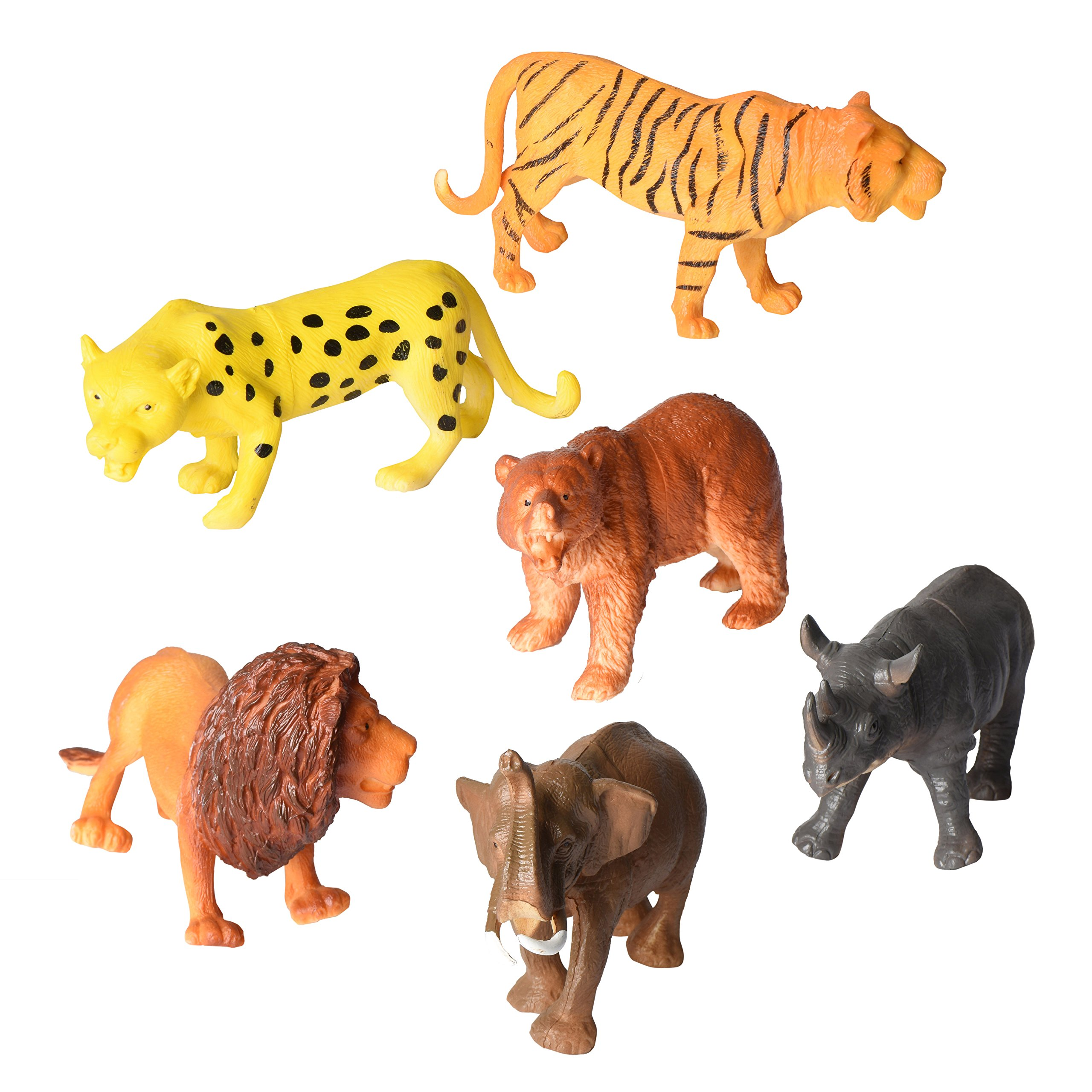 amazoncom animal figure8 inch jumbo jungle animal toy - HD 2560×2560