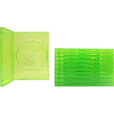 10 Empty Standard Xbox 360 Translucent Green Replacement Games Boxes / Cases (Systems Semi)