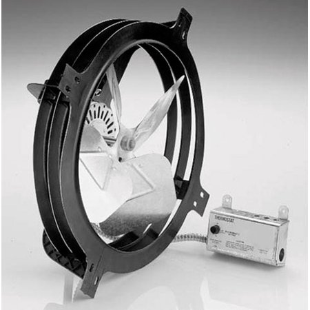 Air Vent Gable Mount Power Fan 18 in. x 17.75 in. x 7.25 in. 7.25 in. 14 in. 1900 sq. ft. 1,320 cfm