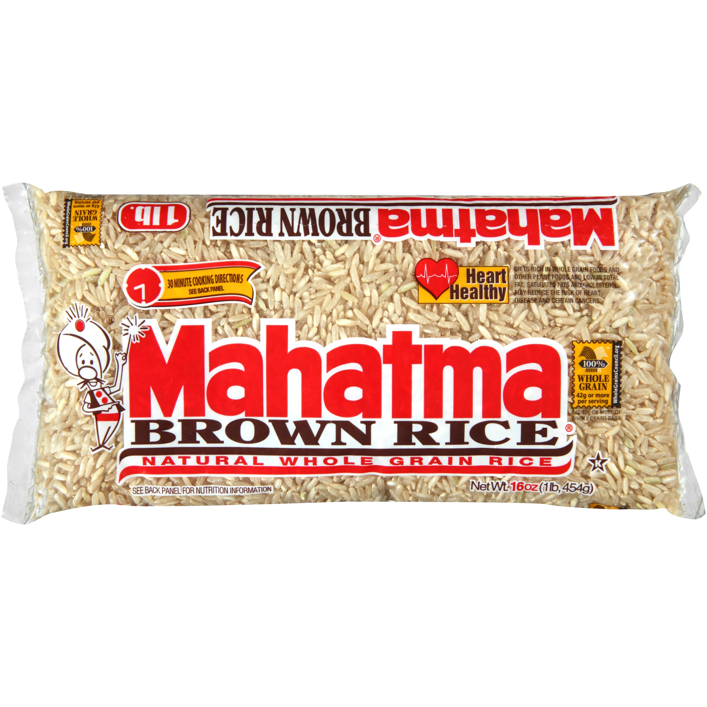 Mahatma® Brown Natural Whole Grain Rice 16 oz. Bag