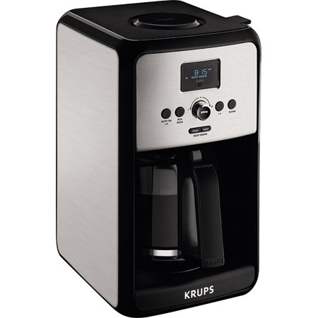 Krups Savoy Stainless Steel 12 Cup Glass Coffee Maker EC314050