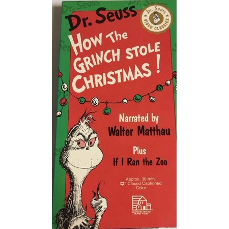 Dr. Seuss How The Grinch Stole Christmas! VHS (1992) Narrated By Walter Matthau](Halloween Is Grinch Night Vhs)