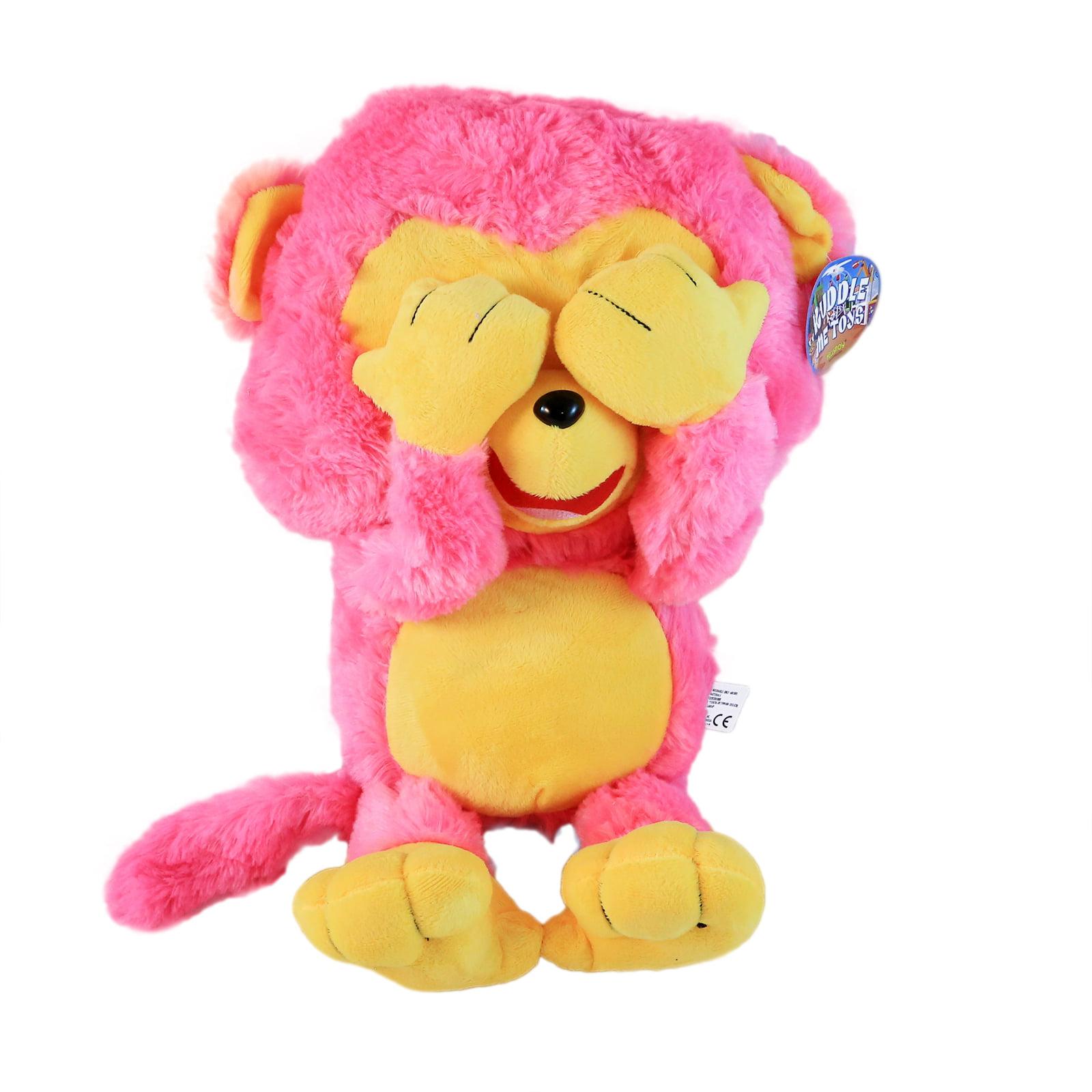 KidPlay Kuddle Toy Hear See Speak No Evil Plush Monkey Stuffed Animal (3 Colors)