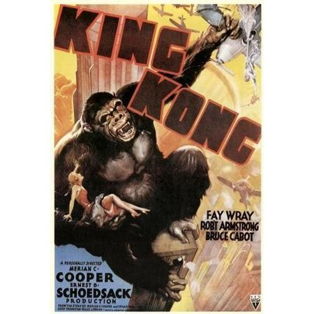 King Size Wood Poster (King Kong - Movie Poster / Print (Classic King Kong) (Size: 27