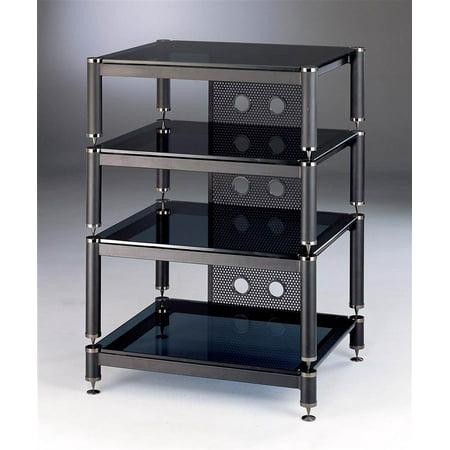 BLG Series Audio Video Rack w Black Shelves