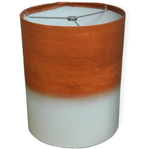 """10"""" Drum Lamp Shade, Orange Watercolor"""