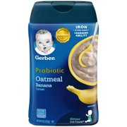 (Pack of 6) Gerber 2nd Foods Probiotic Oatmeal Banana Baby Cereal, 8 Oz