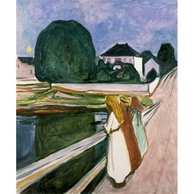 Bentley Global Arts PDX132036LARGE The Girls On The Pier 1901 Poster Print by Edvard Munch, 20 x 24 - Large