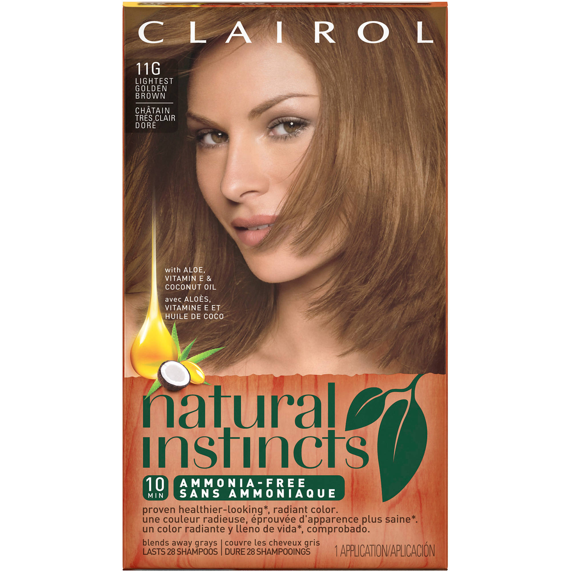 Clairol Natural Instincts Hair Color 22 Medium Auburn Brown 1 Kit