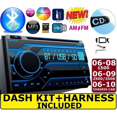 06 07 08 09 10 RAM BLUETOOTH CD USB DOUBLE DIN DASH KIT CAR TRUCK STEREO (Truck Dash Kits)