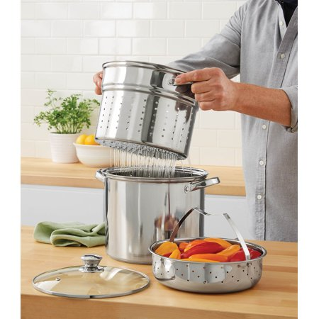 Mainstays Stainless Steel 8 Quart Multi-Cooker with Lid