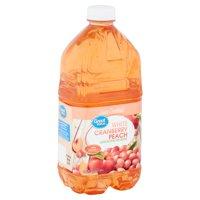 (3 pack) Great Value White Cranberry Peach Juice Cocktail, 64 fl oz