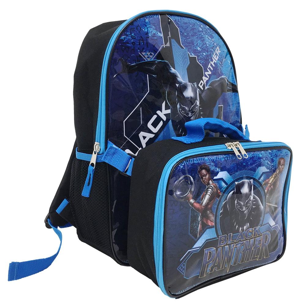 Boys Avengers Black Panther Backpack Kids Marvel School Rucksack Lunch Bag