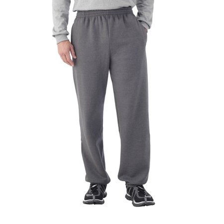 United Mens Fleece Pant (Fruit of the Loom Men's Dual Defense EverSoft Elastic Bottom)