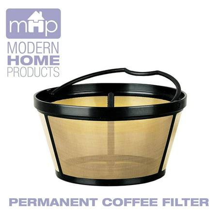 Permanent Basket-Style Gold Tone Coffee Filter Designed for Mr. Coffee 10-12 Cup Coffeemakers (Permanent Gold Tone Coffee Filter)
