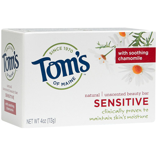 Tom's of Maine Natural Sensitive Beauty Bar Soap, 4 oz, 2 count