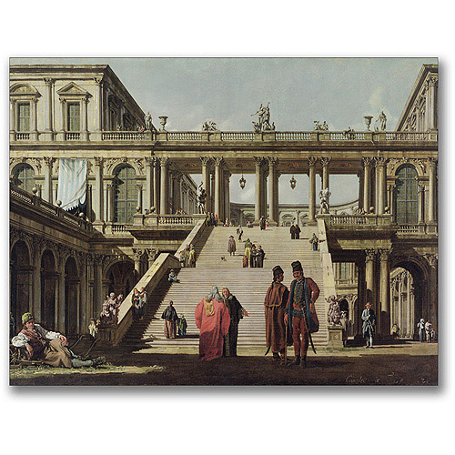 "Trademark Fine Art ""Castle Courtyard, 1762"" Canvas Wall Art by Canatello"