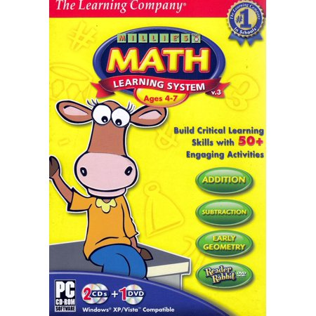 Math Learning System (Ages 4-7) - Includes Reader Rabbit DVD & Millie