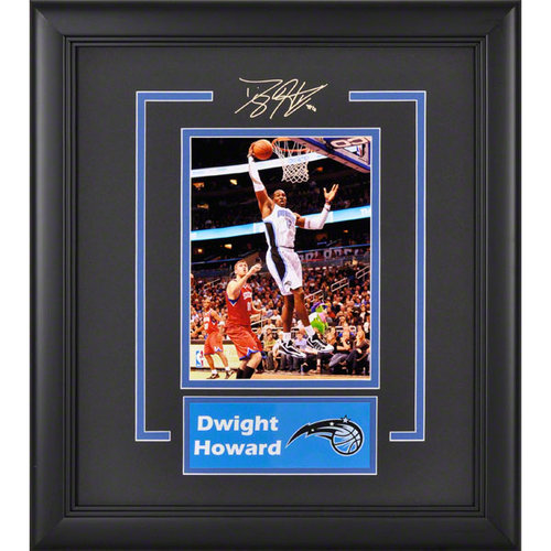 NBA - Dwight Howard Orlando Magic Framed 6x8 Photograph with Facsimile Signature and Plate