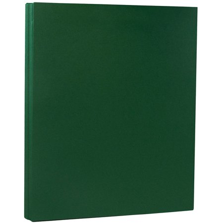 JAM Paper Premium Paper Cardstock, 8.5 x 11, 80 lb Dark Green Cover Cover, 50 Sheets/Pack