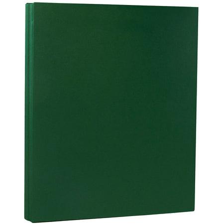 JAM Paper Premium Paper Cardstock, 8.5 x 11, 80 lb Dark Green Cover Cover, 50
