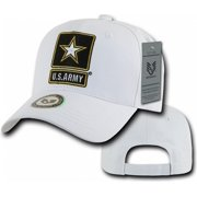 RapDom Army Strong Star Back To The Basics Mens Cap [White - Adjustable]