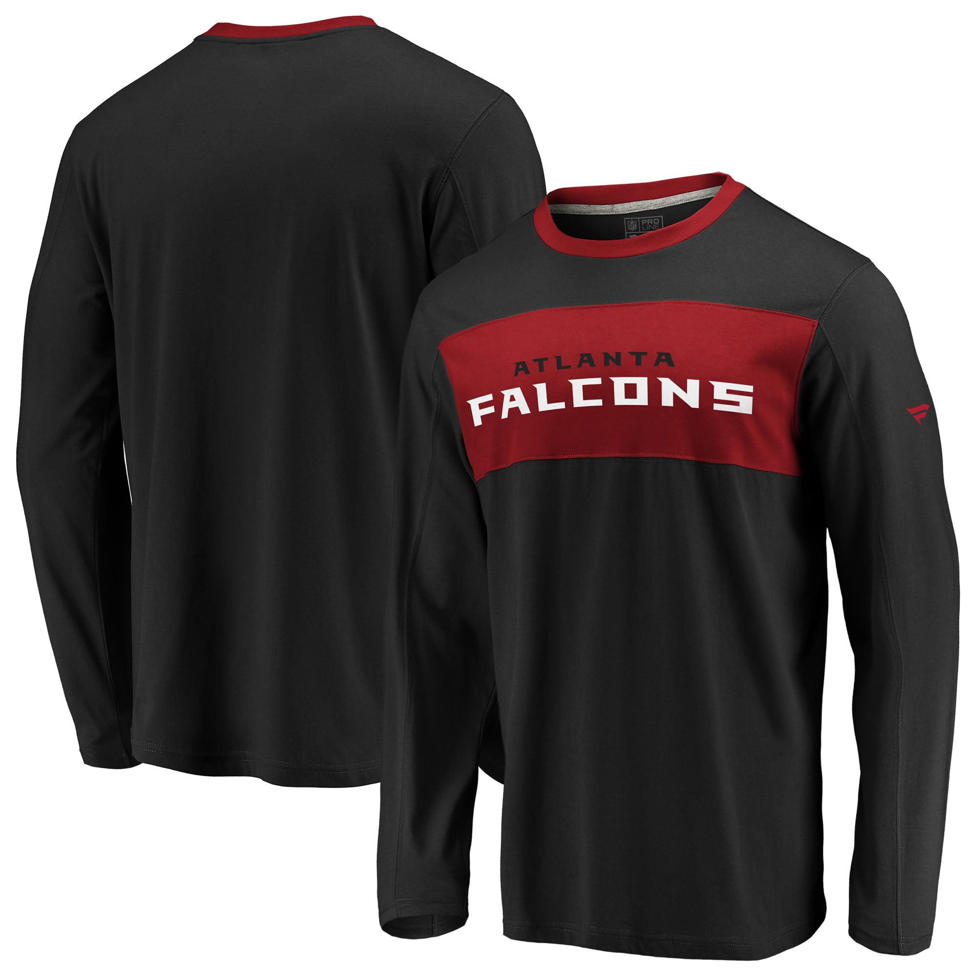 Atlanta Falcons NFL Pro Line by Fanatics Branded Long Sleeve Iconic T-Shirt - Black