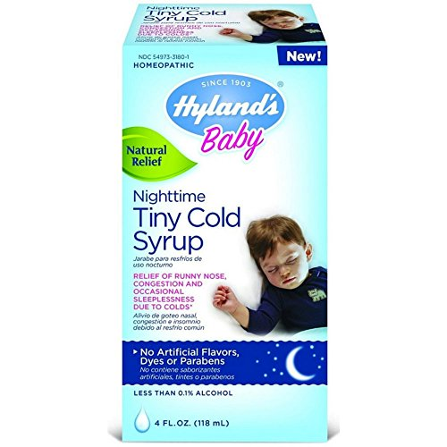 2 Pack Hyland's Baby Nighttime Cold Syrup Natural Relief of Congestion 4OZ Each