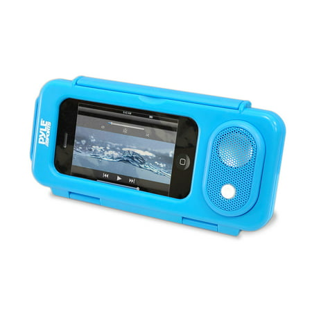 PYLE PWPS63BL - Surf Sound PLAY Universal Waterproof iPod, iPhone4 & iPhone5 MP3 Player Case & Smartphone Portable Speaker (Blue