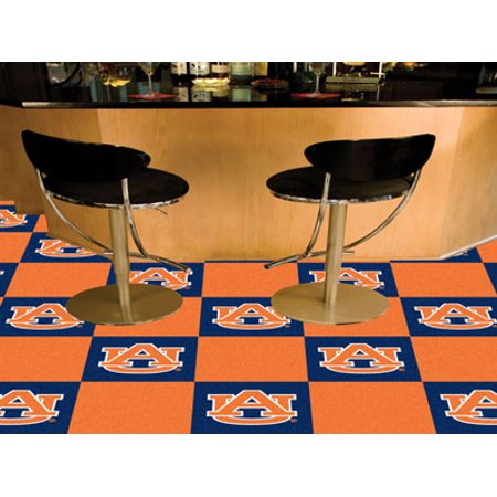 Fanmats College Ncaa Auburn University 18 Inch X18 Inch Alabama 9 Ounce 100   Nylon Face Team Carpet Tiles