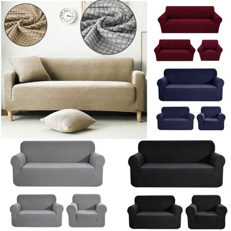 Single/Double/Three Seater Waterproof Dust-proof sofa Cover Knitted Stretch Full Sofa