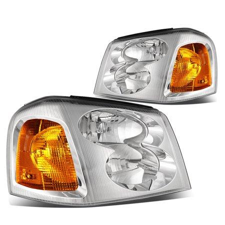 06 Envoy Xl Model (For 02-09 GMC Envoy Headlight Chrome Housing Amber Corner Headlamp STL XL 03 04 05 06 07 08)