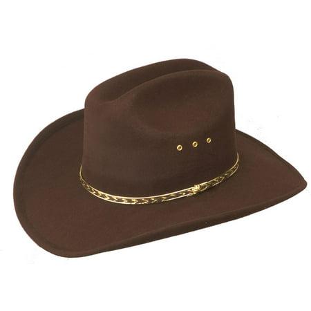Boys Kids Child Brown Cowboy Hat Texas Rodeo Bullrider Brim Western Cattleman - Cowboy Hats Kids
