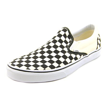 Vans Classic Slip-On Men  Round Toe Canvas Ivory Skate Shoe - Minecraft Shoes Vans