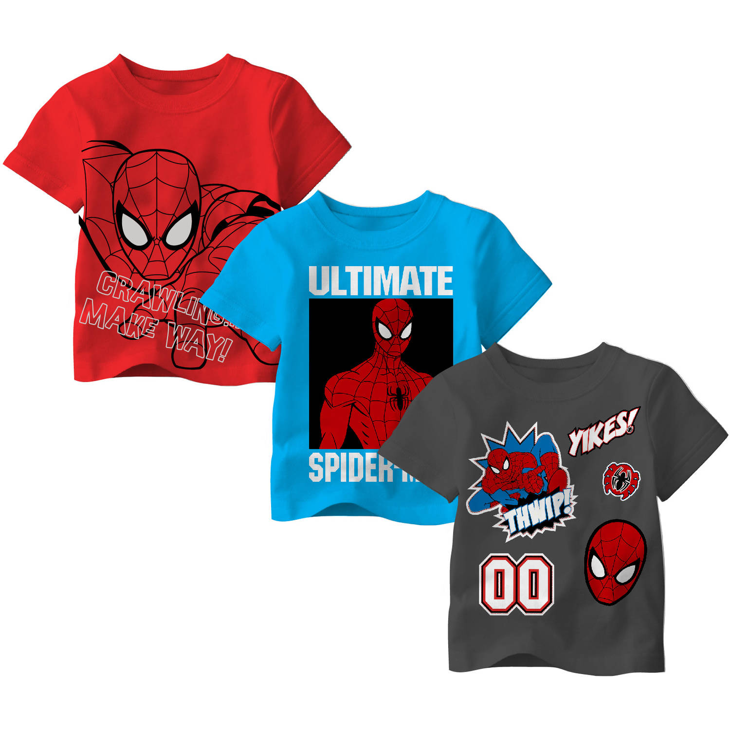 Ultimate Spiderman Toddler Boy Tee Shirt, 3 pack - Online Exclusive