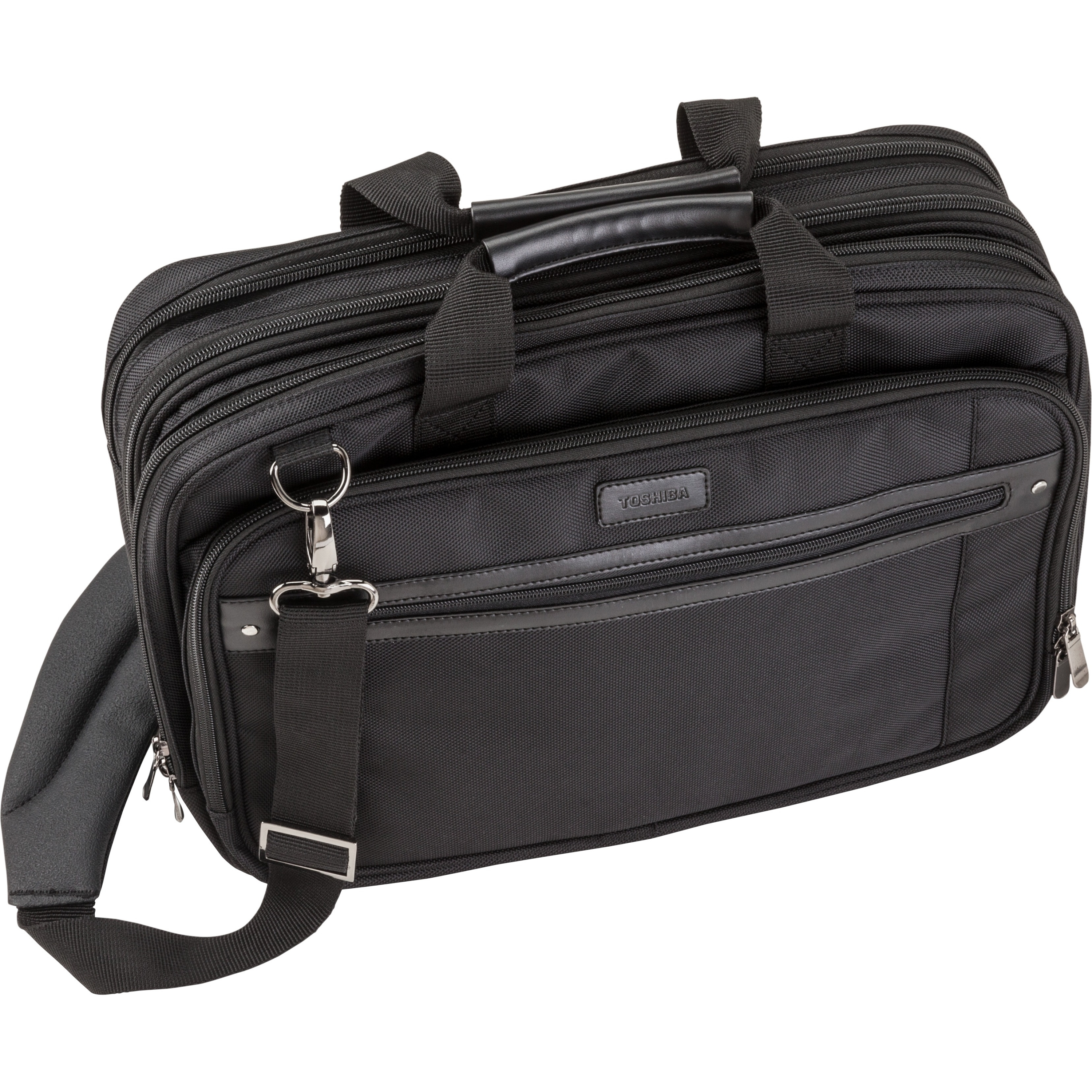 "Toshiba Envoy 2 Carrying Case For 16"" Notebook - Black - 1680d Ballistic Polyester - Checkpoint Friendly - Shoulder Strap, Handle, Trolley Strap (pa1563u-1cs6)"
