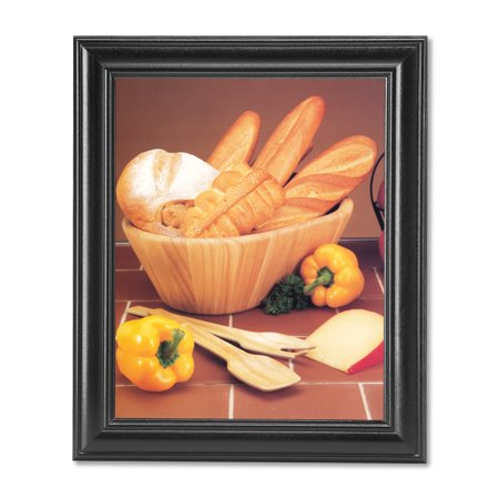 Peppers Framed - Bread Loaf Basket Bowl Pepper Cheese Kitchen Photo Wall Picture Black Framed