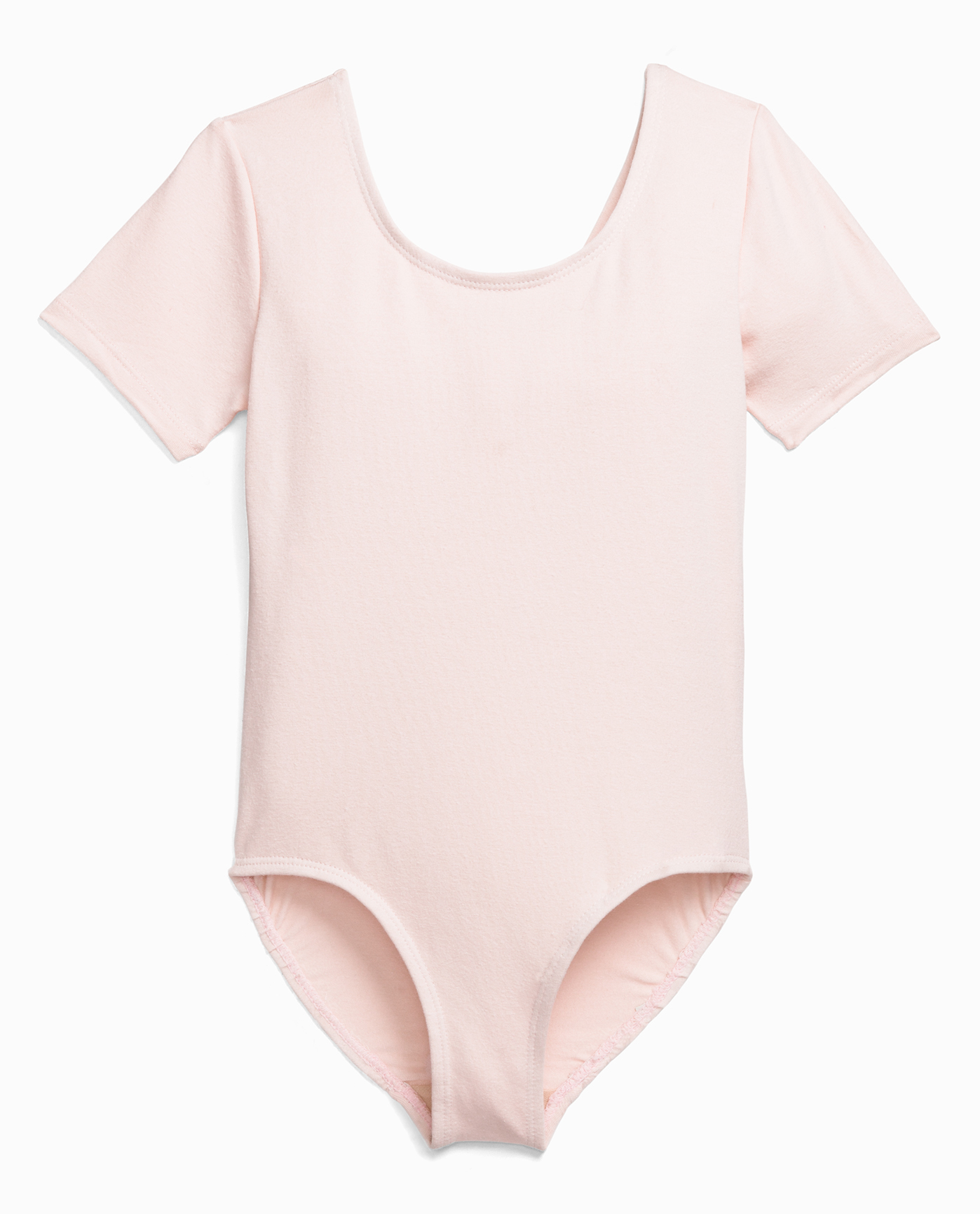 Girl's Short Sleeve Cotton Dance Leotard
